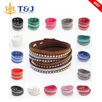 New Christmas Gift Charm Handmade Wrap Leather Bracelet For Women
