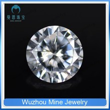 hot sale fancy round brilliant cut white CZ gems eight hearts and arrows jewelry stone