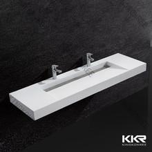 Durable lavabo lavabo negro / sólido de superficie