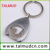 Souvenir coin cylinder key chain