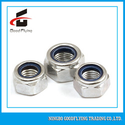 White nylon hex nut