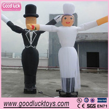 Sky dancing bride inflatable air dancer for welding decoration