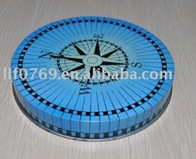 Round metal cd case with printing outside,metal box,tin can