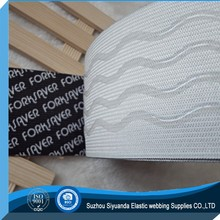 custom printed underwear non-slip silicone gripper jacquard elastic webbing