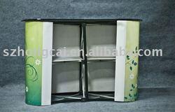 pop up promotion counter folding aluminum material