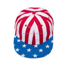 Star and strip snapback cap