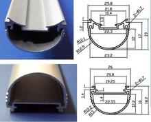 China Manufacturer LED Aluminum Extrusion Profile For Light