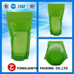Top sale zipper stand up plastic bag for food