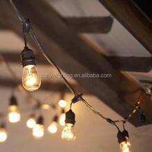 15 E26 Sockets No bulbs NEW Holiday Christmas 48' Deneve Outdoor String Lights