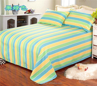 cotton yarn dyed bed sheet hand work
