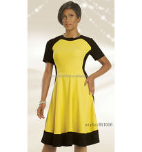 Latest ladies dresses/woman one-piece casual dress/ alibaba express dresses