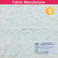 2015 new design white embroidery lace curtain fabricembroidery fabric