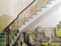 Adjustable - ORNAMENTAL Wrought Iron, Steel Handrail / Stair rail - With Posts