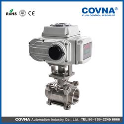 electronic valve DN20 motorized solenoid ball valve actuator