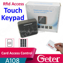 New arrival rfid Card + pin Touch Standalone Keypad Door Access Control JTL A108