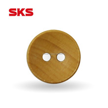 SKS 2-holes custom round wood shirt buttons