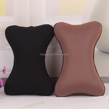 Supply variours shape memory foam car neck rest pillow, car lumbar neck support with pillow case