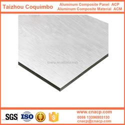 2MM laser engravable Brush Silver aluminum plastic composite panel