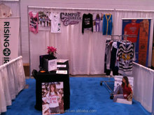 pipe and drape for Trade show10'LX10'WX8'H with 3'H side walls