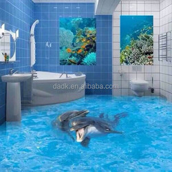 bathroom waterproof attractive 3D floor