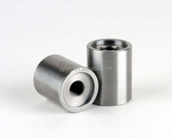 OEM precision cnc stainless steel steel sleeves/female thread bushings