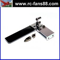 RC Ship 75mm Silver Aluminium Cooling Boat Rudder