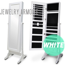 Wooden Mirrored Jewelry Cabinet Furniture