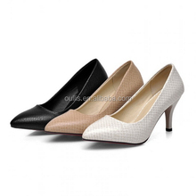 2015 Simple design office ladies middle high heel pumps shoes dress shoes CP6751
