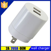 2015 newest best design dual usb 2 port 2.1a mobile phone wall charger