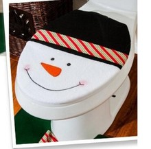 Alibaba new products !!! Cute snowman christmas toilet ornament for promotion