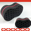LOCK double sided with holes Twist it locs hair tools coil sponge Magic Twists foam hair brush twist sponge