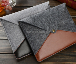 Universal genuine leather felt 8 inch tablet sleeves cases bag for iPad mini Samsung note 8.0 for