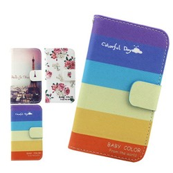 colorful leather flip cover case for huawei P7 MINI,for leather huawei P7 MINI case