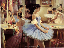 high quanlity favourable price hot sell beautiful girl's Swan Song oil painting on canvas