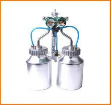 Ningbo 2015 hot on sales hymair chrome paint double nozzle gun