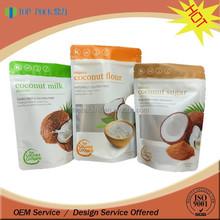 Top Pack printed bag for coconut flour, coconut sugar bag, coconut milk bag