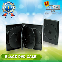 PP 33mm 10discs black DVD case with 4 trays