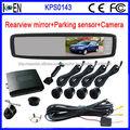 Sensor De Reversa Kit De 4 Sensores Con Cámara Y Espejo Retrovisor Para Autos