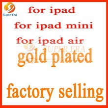new plated gold for ipad 2/3/4/5/6 air 2 back cover gold plated luxury beauty