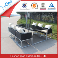 Regal large restaurant tables and chairs rattan furniture