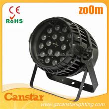 Waterproof outdoor zoom 18x10w led par light Par 64