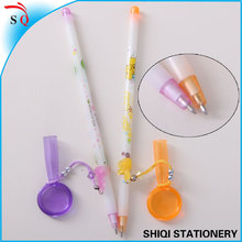 advertisement cap magnifying glass with ball pen