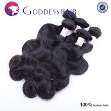 Fashionale hot selling hair extension, 7A raw unprocessed body wave, cuticle intact cheap brazilian hair extension