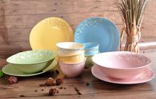 Factory direct god rim embossed ceramic dinner set, dinner plate for dinnerware