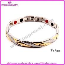 IJL0019 men's gold blood pressure magnetic control bracelet price