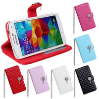 Bling Metal Hand Chain ID Card Holder Purse Wallet For Samsung S5 Rhinestone Mobile Phone Cover