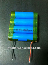 18650 lithium battery pack high capacity 4 cells in parallel 8000mAH