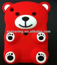 3D lovely bear silicone case cover for ipad mini