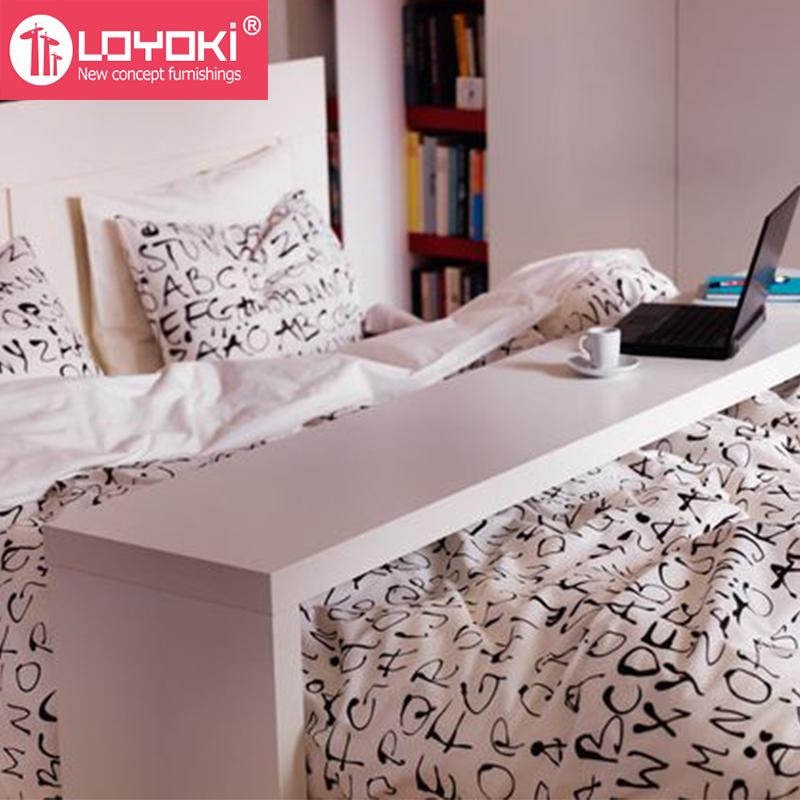 Novo design mdf m veis de madeira cama mesa ocasional mesa - Mesa para la cama ikea ...