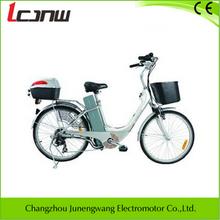 "2015 new china adult best selling nice design electric bike 26"" Aluminum 36V 250W brushless hub Lead Acid battery 12Ah 6 speed"